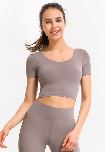 HAPPY FRIDAYS Women's Yoga Short Sleeve Tees DSG17 79FB8AA6698A05GS_1