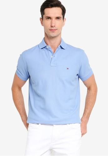 Tommy Hilfiger 藍色 Essential 標準剪裁POLO衫 72151AA0143E0EGS_1