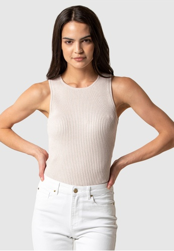 Forever New grey Kirsten High Neck Knit Tank 26E4EAA51C3675GS_1