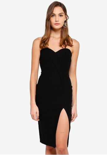 Vesper black Mindy Sweetheart Neck Strapless Dress EC4DDAA84E9E4EGS_1