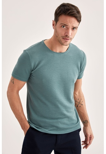 DeFacto green Man Knitted Plain T-Shirt 0F3CCAAE995A94GS_1