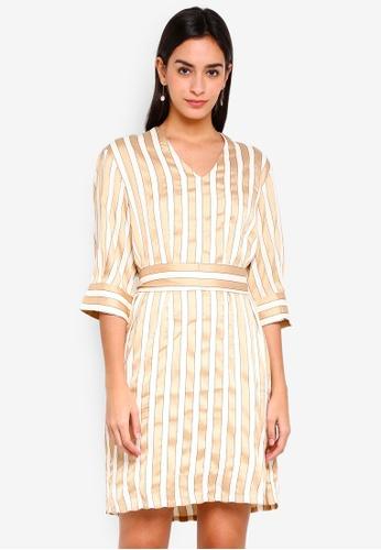 Selected Femme white Jadine 3/4 Dress 91B42AACF67A47GS_1