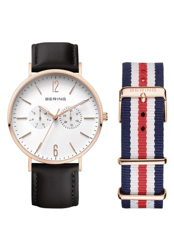 Bering black and multi and gold Classic 14240-464 White 40 mm Unisex Watch 74F8CAC57115B1GS_1