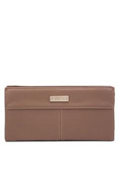 Pebbled Texture Ladies Zip-Up Clutch Wallet