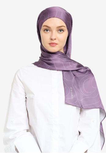 Hijabii purple Nita Shawl in Purple 2841DACBE65A1AGS_1