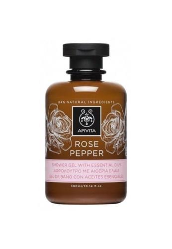 APIVITA Apivita Rose Pepper Shower Gel with Essential Oil 300ml 975FEBE57E05F1GS_1
