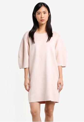 Mango pink Suede Effect Dress MA193AA0RXS1MY_1