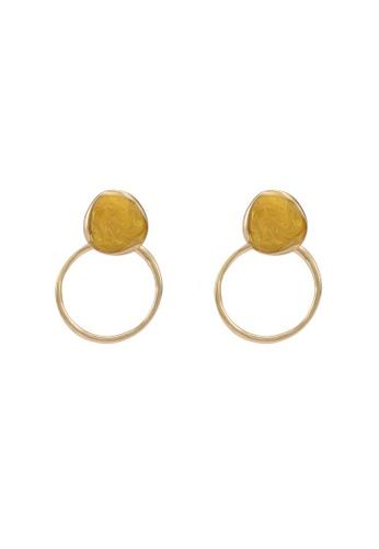 GLOBAL WORK yellow Gem Hoop Earrings 30371AC6570831GS_1
