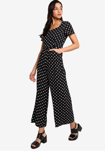 Something Borrowed black and white Sweet Heart Neck Culotte Jumpsuit 33F24AAB2C58FEGS_1