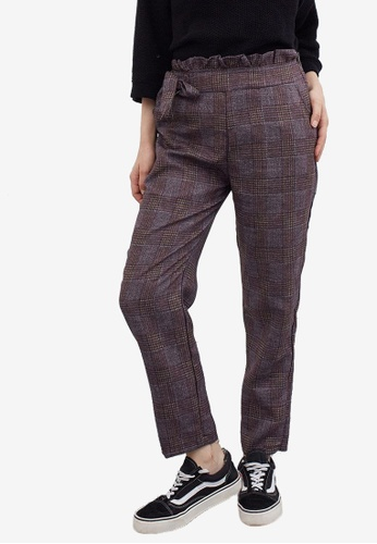Berrybenka multi Stova Checkered Pants 8EAB7AA89051FDGS_1