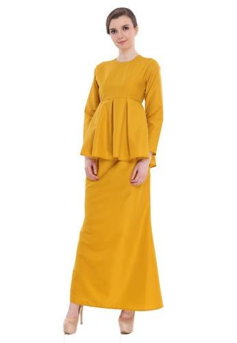 Amar Amran yellow Peplum Saloma 5E447AAE1CBAFCGS_1
