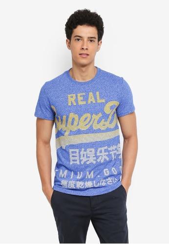 Superdry blue XL Premium Goods Fade Tee CDDBDAAB8976ADGS_1