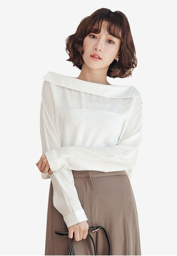 f2d00b14e99e04 Shop Tokichoi One Shoulder Long Sleeve Top Online on ZALORA Philippines