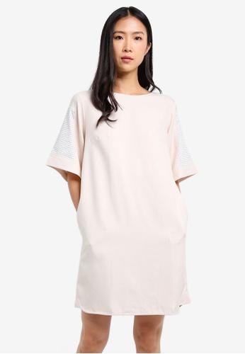 WEEKEND SUNDRIES beige Fawn Mesh Dress WE453AA0FXV6SG_1