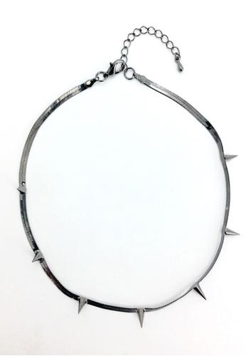 My Flash Trash black Gunmetal Necklace FD879AC6961F5FGS_1