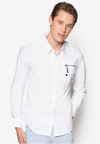 拉倆口袋長袖襯衫, 服飾, esprit sg素色襯衫