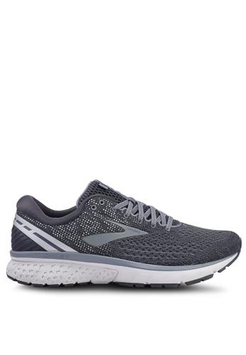 Brooks grey Men's Ghost 11 Shoes 74140SH6F8D2A4GS_1