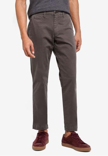 GAP grey Slim Vintage Wash Khaki Pants 9AEEDAAB18AF2EGS_1
