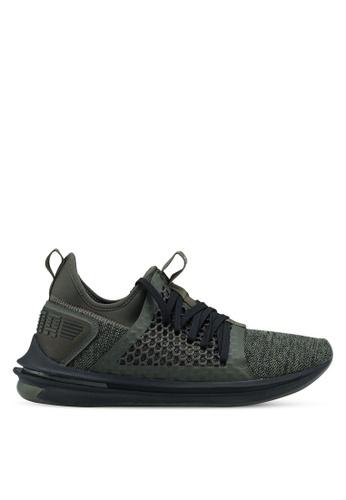 Puma green Ignite Limitless Sr Netfit Shoes PU549SH0SWDCMY_1