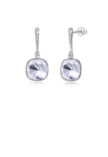 Glamorousky silver 925 Sterling Silver Elegant Fashion Simple Sparkling White Austrian element Crystal Earrings A39DAAC2A2738AGS_1