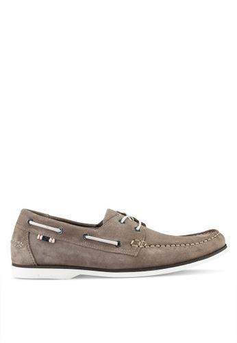 Jack & Jones brown Anchor Suede Almond Boat Shoes 25BBCSH52190D1GS_1