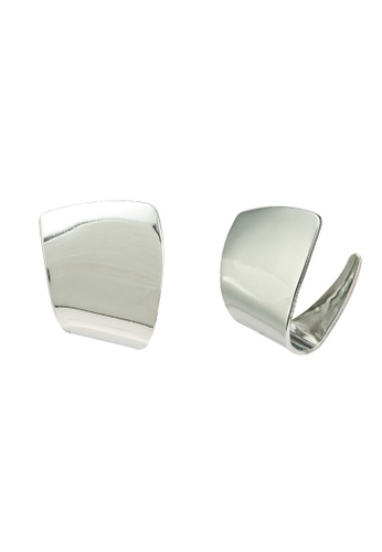 Red's Revenge silver Minimalist Abstract Stud Earrings 658FBAC88CB8D0GS_1