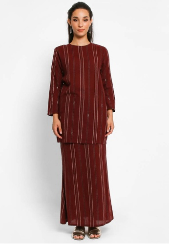 Kurung Isabell in Maroon from BETTY HARDY in Red