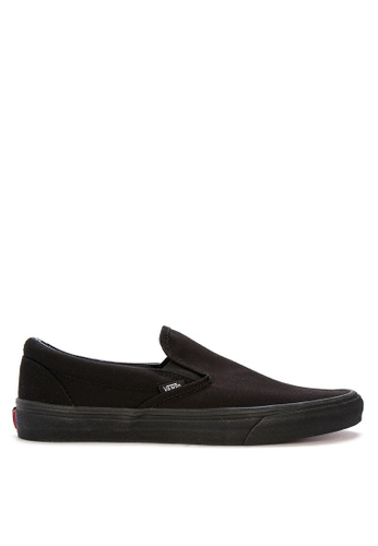 Vans black Classic Slip-On Sneakers F84D9SH4AEE018GS_1