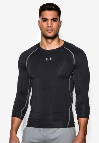 Under Armour black Men s UA HeatGear® Armour Long Sleeve Compression  Shirt UN337AA25SLEMY 1 54a1532d6