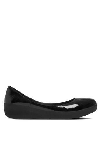 Fitflop black Patent Superballerina Flats FI522SH18SBTMY_1