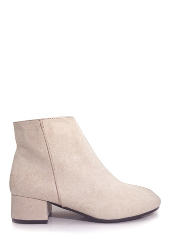 Twenty Eight Shoes beige Casual Block-Heel Ankle Boots VB8323 AA8ECSH2083DD7GS_1