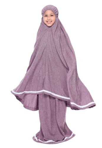 QUTN Telekung Rania in Raisin Purple 0A261KC398F91EGS_1