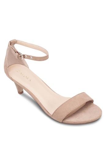露趾繞踝仿麂皮高跟鞋, 女esprit outlet 家樂福鞋, 清新俏皮