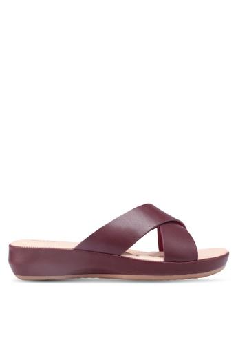 Bata red Faux Leather Sandals CEBA3SH7F985F3GS_1