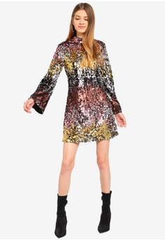 3e71f13d0bb4 50% OFF Miss Selfridge Ombre Sequin Midi S  223.00 NOW S  111.90 Sizes 4 6  8 10