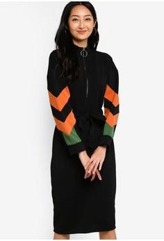 14f26f831c Something Borrowed black Colorblock High Neck Midi Dress with Sash  A1734AAFF85F1BGS_1