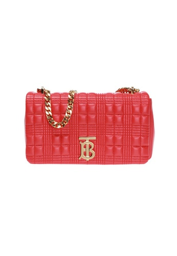 Burberry red Burberry Small Quilted Shoulder Bag in Bright Red E449BAC65F31ACGS_1