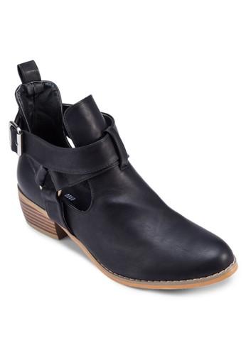 側鏤空多zalora 衣服評價帶踝靴, 女鞋, 靴子