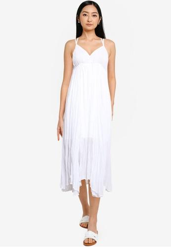 Heather white Sleeveless Midi Dress 1B919AAF43650BGS_1