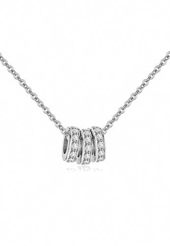 CELOVIS silver CELOVIS - Frillitair Triple-Pendant with Dias Necklace (Silver) 3A2B0AC331CF7FGS_1
