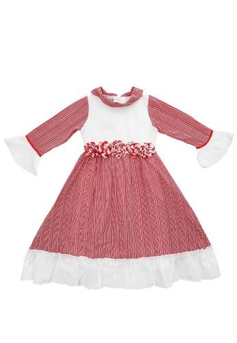 FIYORA red Fahira Cotton Girl Dress Moslem Hijab set 8C636KAEC315DFGS_1