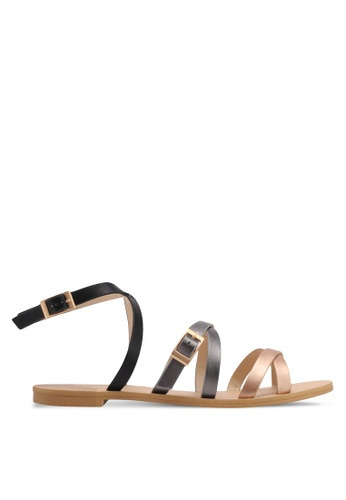 ZALORA black Strappy Sandals E65A5SH2D3FDD3GS_1