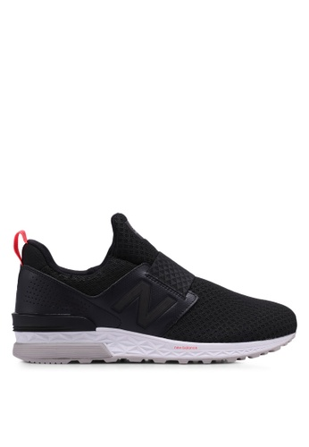 New Balance black 574 Sports Luxe Lifestyle Sneakers CF54CSH48A1864GS_1