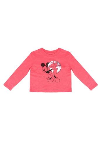 GAP pink Disney Graphic Long Sleeve Tee EB643KAF729C13GS_1