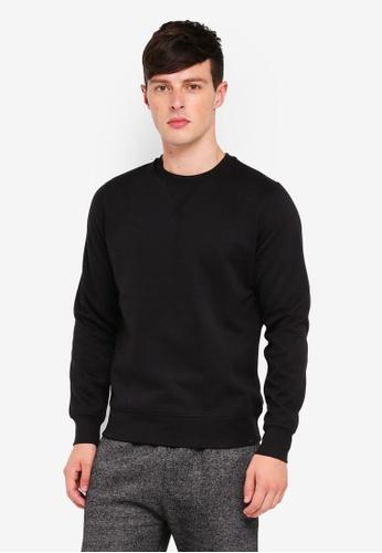Brave Soul black Crew Neck Sweatshirt 875F9AACFB8C5EGS_1