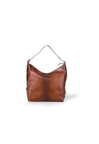 Charles Berkeley brown Charles Berkeley Italian Craftsmanship Toscana Vintage Shoulder Bag -4057 B089EAC214852CGS_1