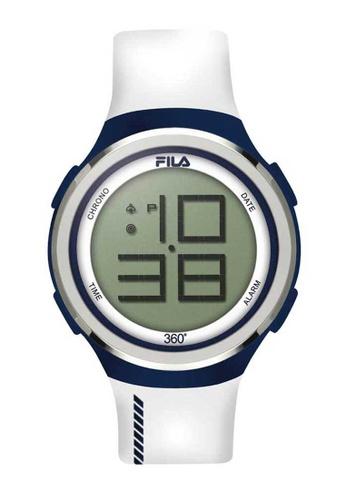 FILA Watches white Fila Digital Blue and White Rubber Watch E144AAC8E6B02EGS_1