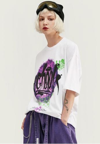 Twenty Eight Shoes Oversize Printed T-Shirts 1086S20 D0E42AA7072CC7GS_1