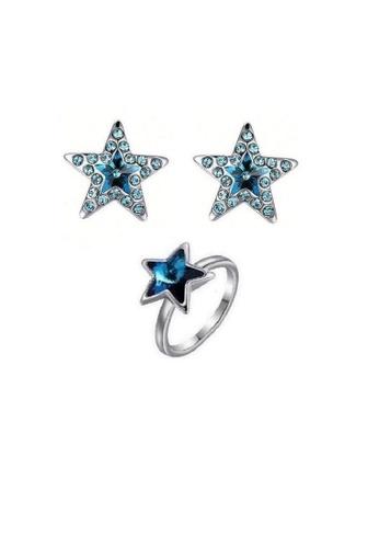 ADORA blue Swarovski Star Set AD365AC2WBM9HK_1