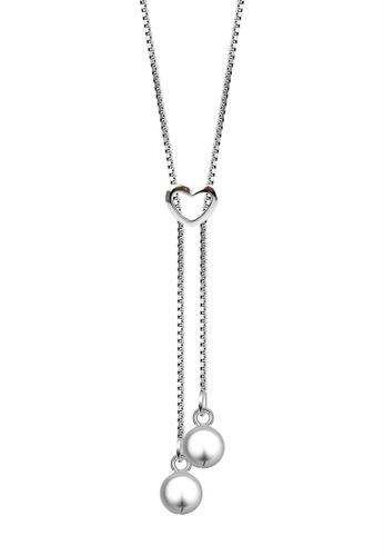 SC Tom Silver silver Heart Center Chain Necklace- CC074 SC872AC96IOLPH_1